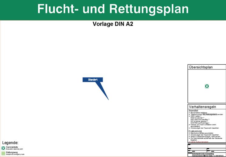 Flucht- und Rettungsplan - Vorlage DIN A2