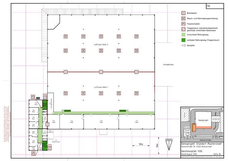Feuerwehrplan Obergeschoss