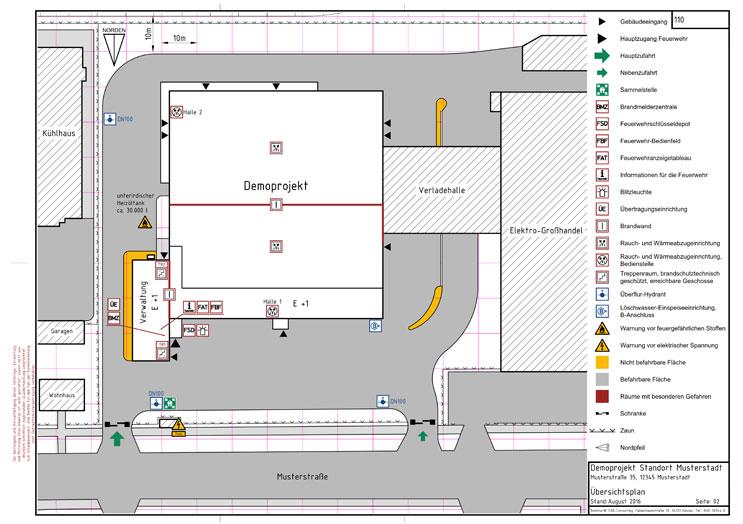 Feuerwehrplan Übersicht