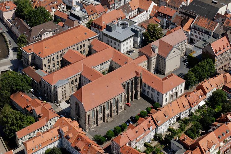 Luftbild - Historische Uni Bibliothek Göttingen