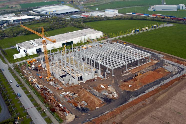 Luftbild - Baustelle HNA