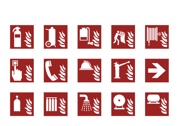 Symbolbibliothek - Brandschutz