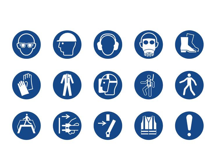 Symbolbibliothek - Gebotszeichen