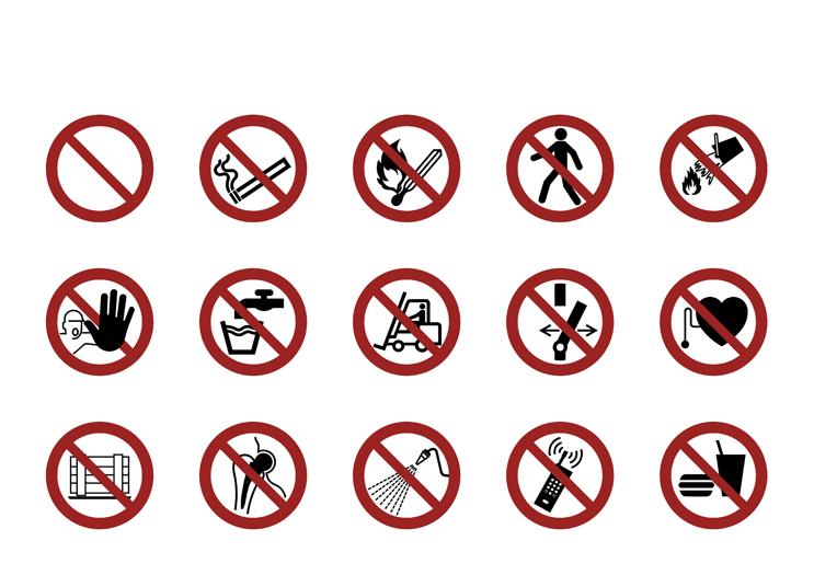 Symbolbibliothek - Verbotszeichen