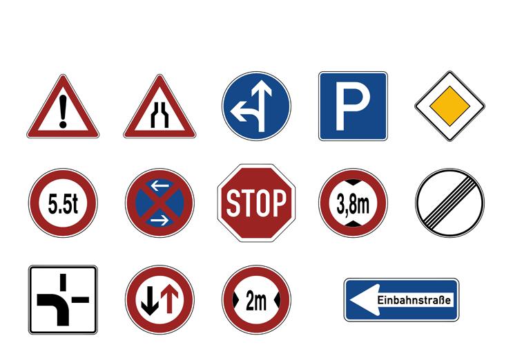 Symbolbibliothek - Verkehrszeiche